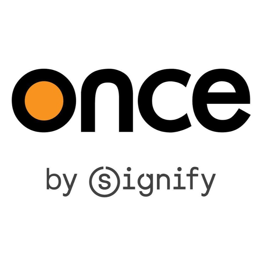 Once by Signify Logo